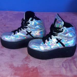 UNIF Shoes - Holographic Platforms